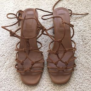 Topshop 'napoli' knotted sandals sz 39